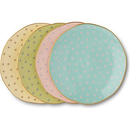 Wedgwood Polka Dot Tea Story tea plates