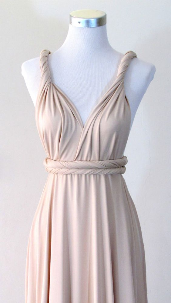 Free Bandeau Convertible Maxi Dress In Champagne Infinity
