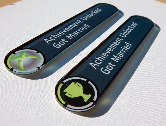 Custom Xbox Achievement Magnet Wedding Gift by AnotherCastleStore