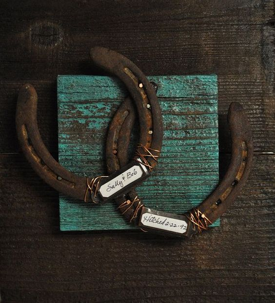 Horseshoe Wedding Gift: Personalized Wedding Gifts, Horseshoe Wedding And Cowboy