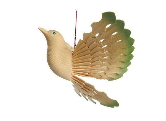 Hand Carved Wooden Dove Wood Anniversary Country by MyFanbirds