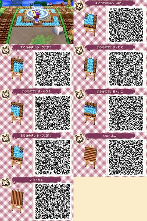 a wooden moat remember i did not make this design acnl qr codes pinterest qr codes. Black Bedroom Furniture Sets. Home Design Ideas