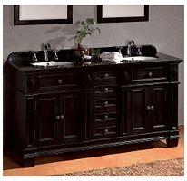 Essex Double Vanity Black Granite Counter