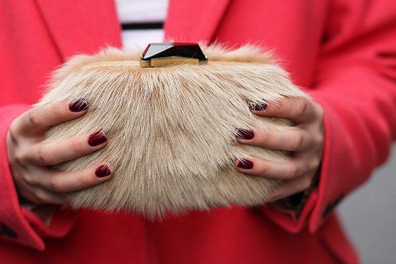 Oversized Pink Coat & Furry Clutch - SabFashionLab