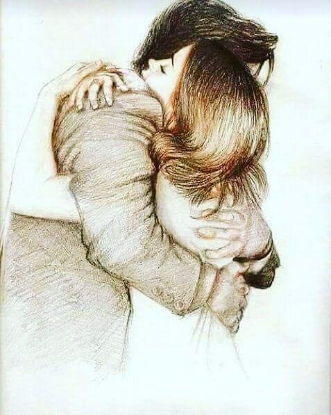 Love Couple Cute Adorable Kiss Kisses Hugs Romance Forever Girlfriend Boyfriend Gf Bf Bff Together Photo Love Drawings Couple Drawings Love Art