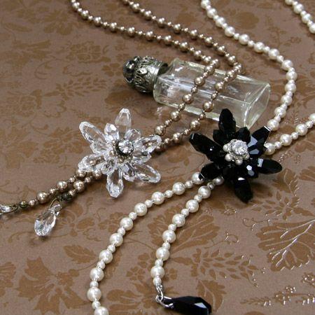 crystal drop bead flowers