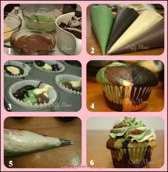 How to Make Camo Cupcakes | these look awesome to make i think i may have to try this and try to ...