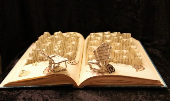 Life's A Beach Book Sculpture by WetCanvasArt on Etsy, $75.00