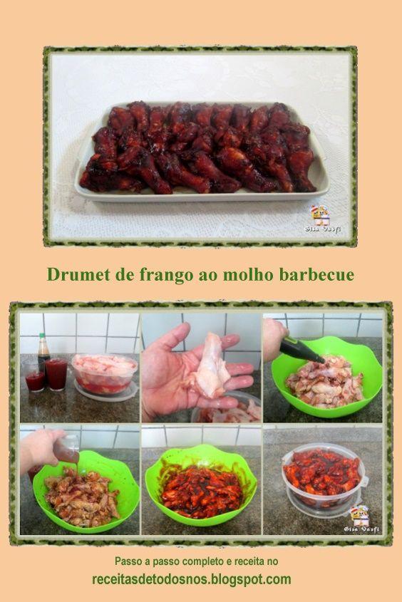 Drumet De Frango Ao Molho Barbecue Com Imagens Ideias