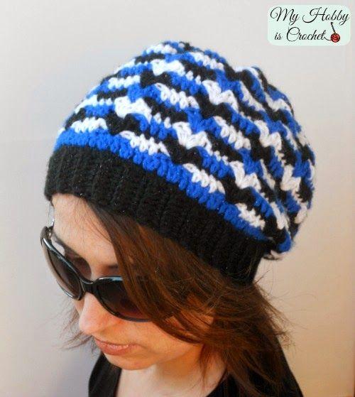 Hypnotic Heart Slouch Hat - Free Crochet Pattern (My hobby ...
