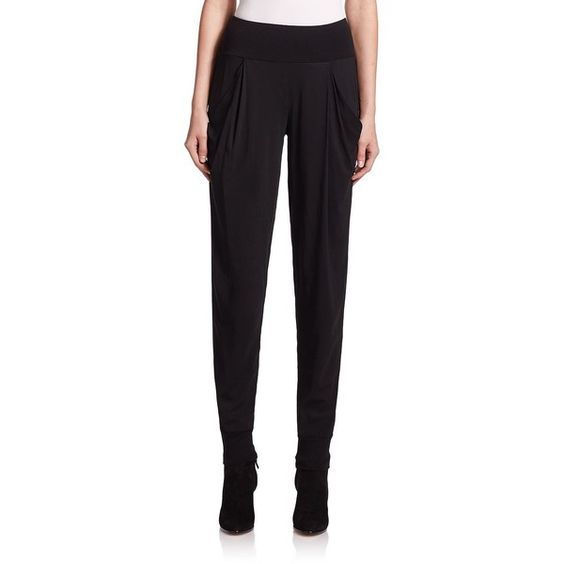 Donna Karan Pleated Pants (1 200 AUD) ❤ liked on Polyvore