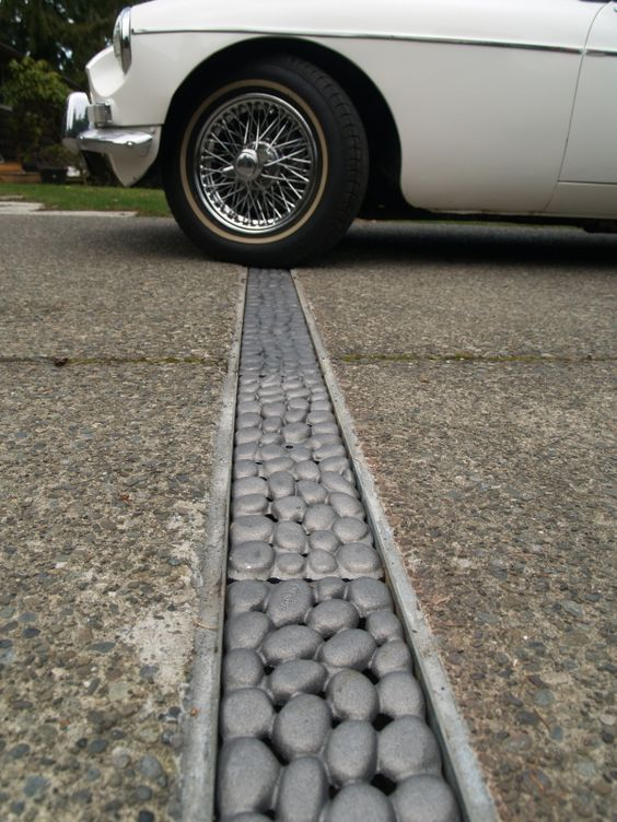 River Rock Trench Grate By Iron Age Designs Landscape
