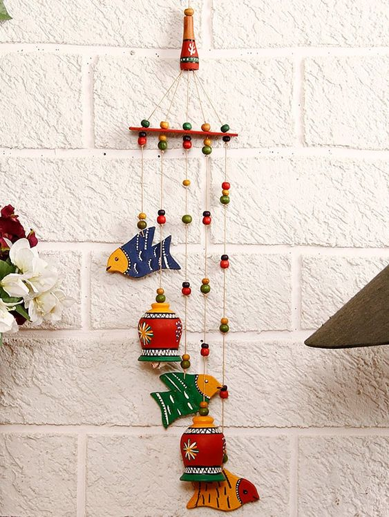 Buy Terracotta Bells N Birds Wind Chime for Unisex from Unravel India for ₹1036 at 14% off | 2019 Limeroad.com