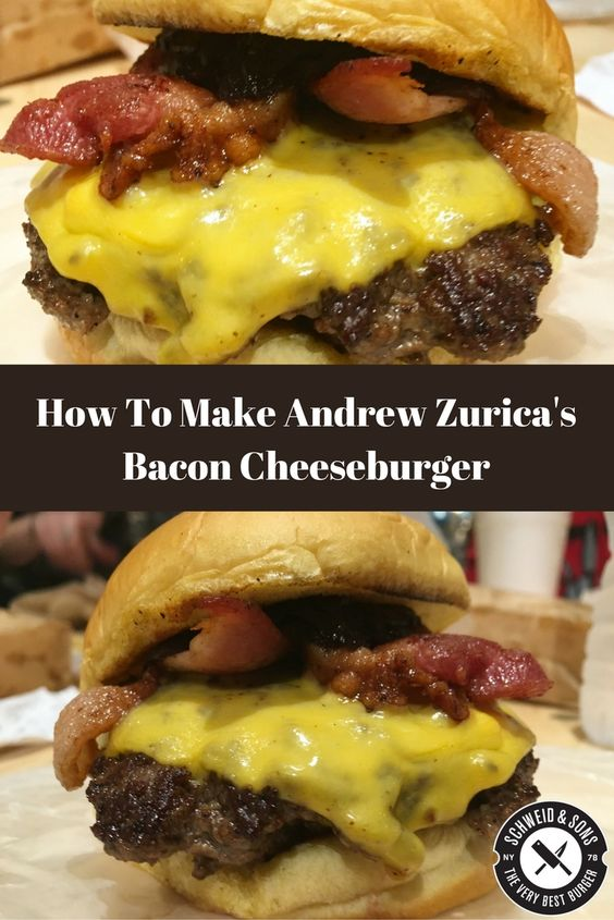 Everyone makes their own version of a bacon Cheeseburger. But not everyone has honed their recipe to create perfection every time. Today's recipe comes from Andrew Zurica of Hard Times Sundaes in NYC. His bacon Cheeseburger features @schweidandsons USDA Prime @certangusbeef Burgers, diced onions, American cheese, and crispy bacon all atop Martin's @potatorolls.