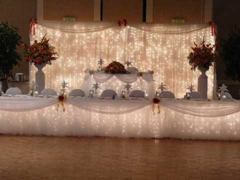 Use Icicle Lights For Holiday Market Table Design