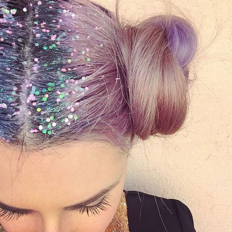 13 of the CRAZIEST beauty trends of 2015: glitter hair roots: