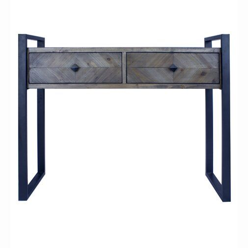 Delphine 2 Drawer Console Table Iron Console Table Modern Console Tables Console Table