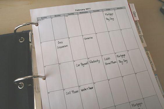 Easy bill organization.