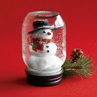 Binkies and briefcases homemade snowglobes craft ideas for Easy homemade christmas snow globes
