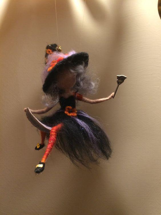 Nadel Gefilzte Waldorf Fairy Halloween Herbst von DreamsLab3