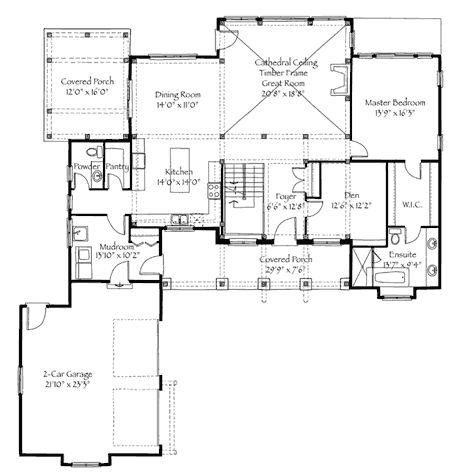 2947sq Ft 3 Bed Loft Bunk Room Timber Frame House Plans