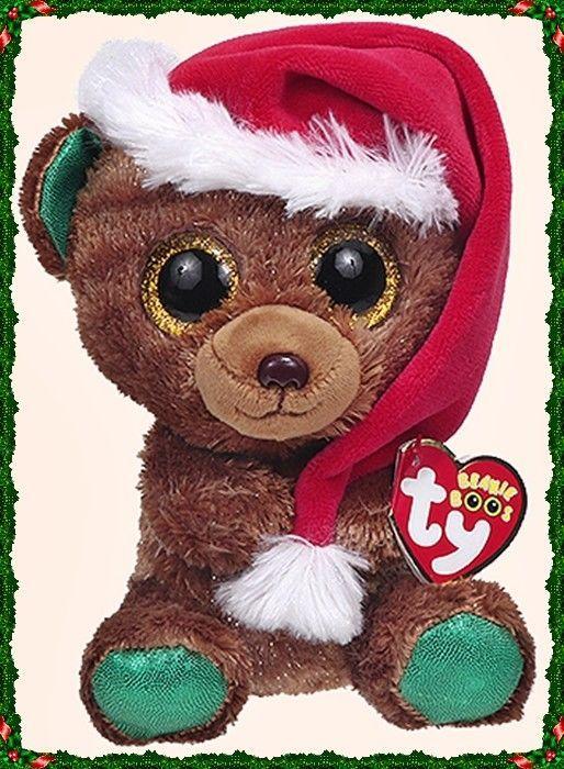 Ty Christmas Bear 2020 Ty Beanie Boos   NICHOLAS the Christmas Bear in 2020 | Beanie boos