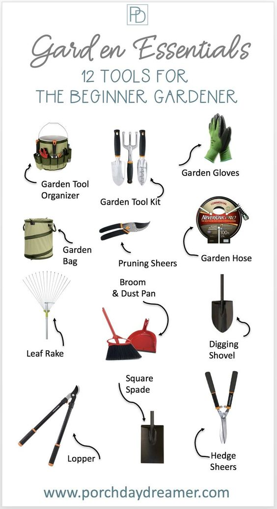 Do you have a new home and garden, but no idea of what garden tools you need. Here are the 12 must have garden tools for the beginner landscaper and garden. Plus some upgraded tools for landscaping if you have been doing this a while! #gardentools #beginnergardener #gardenideas #newtogardening
