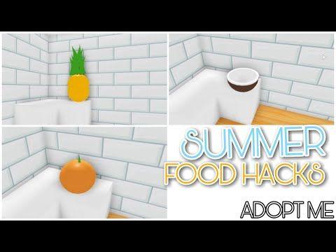 Adopt Me Roblox Bathroom Ideas 8 Summer Food Hacks Adopt Me Building Hacks Youtube In 2020 Cute Room Ideas Summer Food Hacks My Home Design