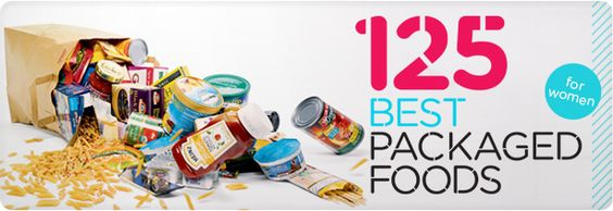 125 healthiest packaged foods... So that when you reach for that easy quick snack, it's the right choice! :)