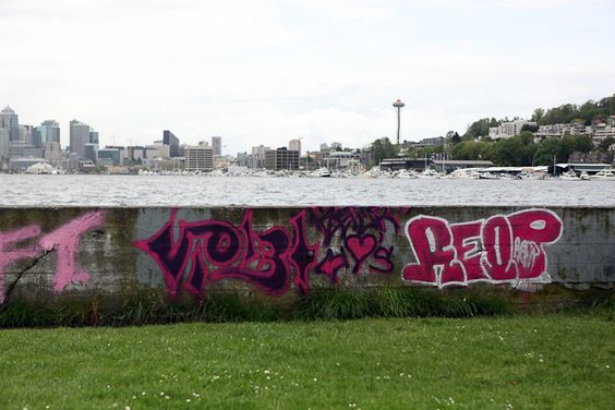 Graffiti at Gas Works Park. See more photos of graffiti around Seattle: http://bit.ly/IUhZN9.