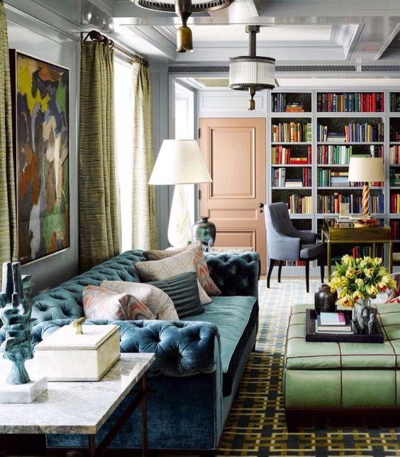 STEVEN GAMBREL LIVING ROOM | Steven Gambrel via ELLE Decor | www.bocadolobo.com/ #livingroomideas #livingroomdecor