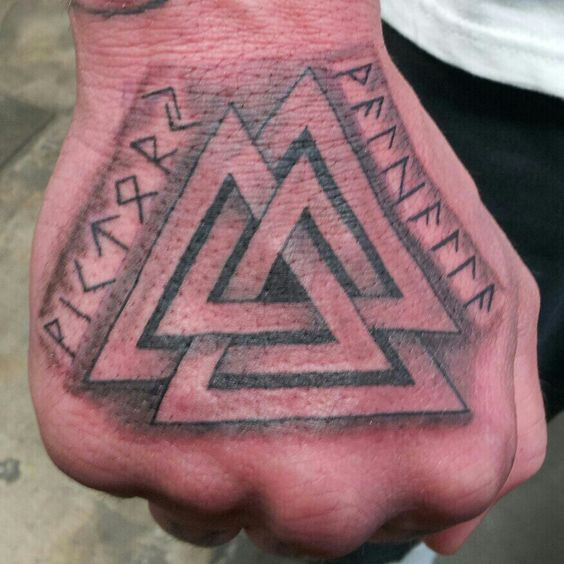 Viking tattoo symbal is called valknut ancestry that is for Valknut symbol tattoo