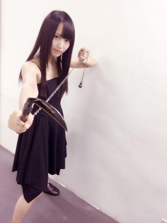 鎖鎌を持つ菅井友香