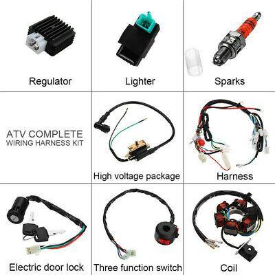 Ebay Advertisement Wiring Harness Kit Regulator For 70cc 90cc 110cc 125cc Electric Chinese Quads In 2020 50cc Atv Accessories Atv Quads