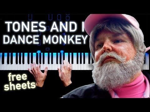 Tones And I Dance Monkey Piano Cover Sheets Youtube Piano Cover Piano Music Tones