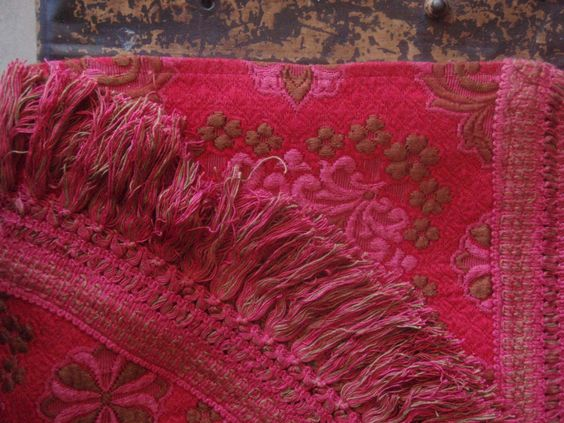 Vintage Bedspread  Throw rug  Bohemian Bedding by alittlebitdusty, $80.00