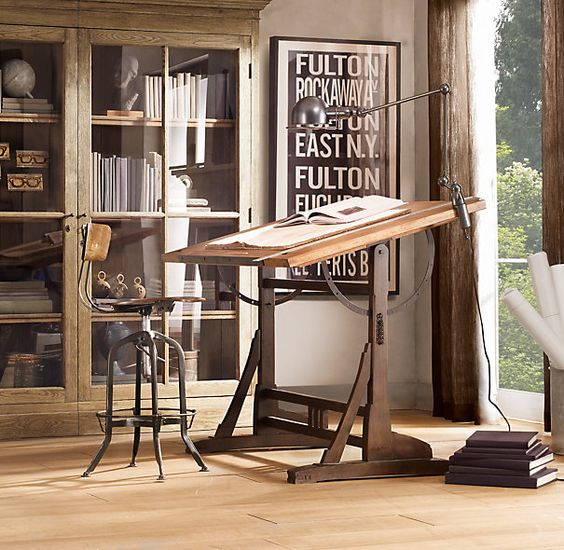 1920's French drafting table: Restoration Hardware, Workspace, Home Office, 1920S French, French Drafting, Drafting Tables