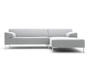 Sofá de 4 plazas chaise longue derecho Freistil 180 - gris claro