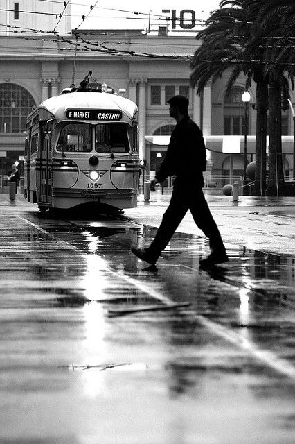 Rainy days have a sense of nostalgia....at the Ferry Building in San Francisco