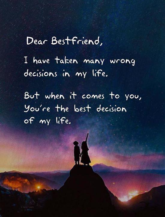 Dear Bestfriend Via Http Bit Ly 2vojsr6 Friends Quotes True Friends Quotes Friend Love Quotes