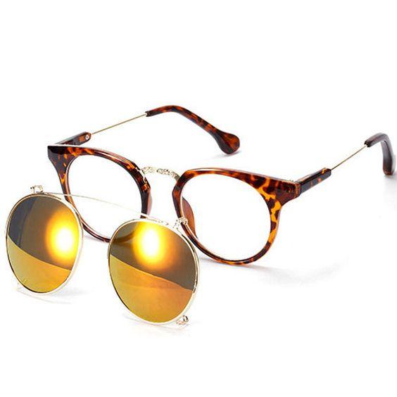 Clip On Sunglasses Retro