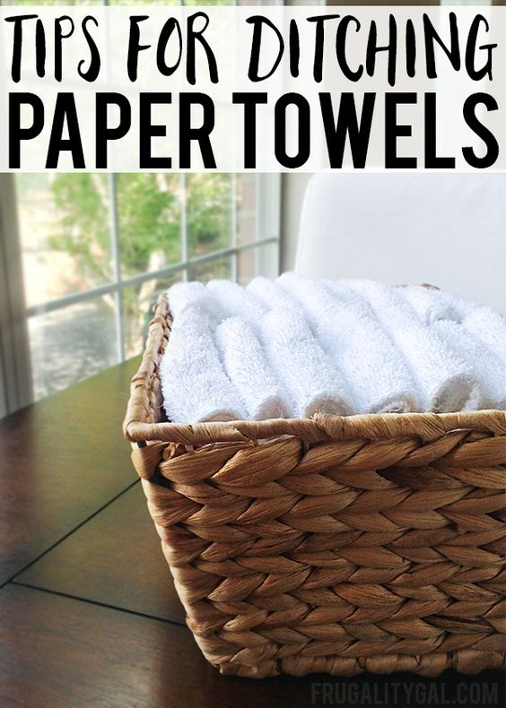 Frugal Living Tips : Here are a few simple tips to make switching from paper towels to reusable cloths easier!