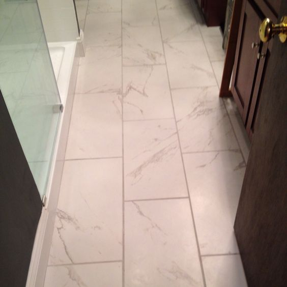 New bathroom floor economical and no slippage with the for Matte bathroom tiles