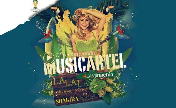 """Shakira es nuestra invitada en el #martes del #Musicartel con su canción para el #Mundial de Brasil 2014 """"La la la""""!"""