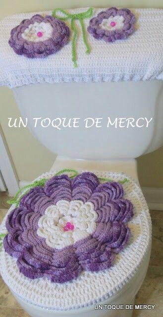 Set De Juego De Baño:Juegos De Bano En Crochet