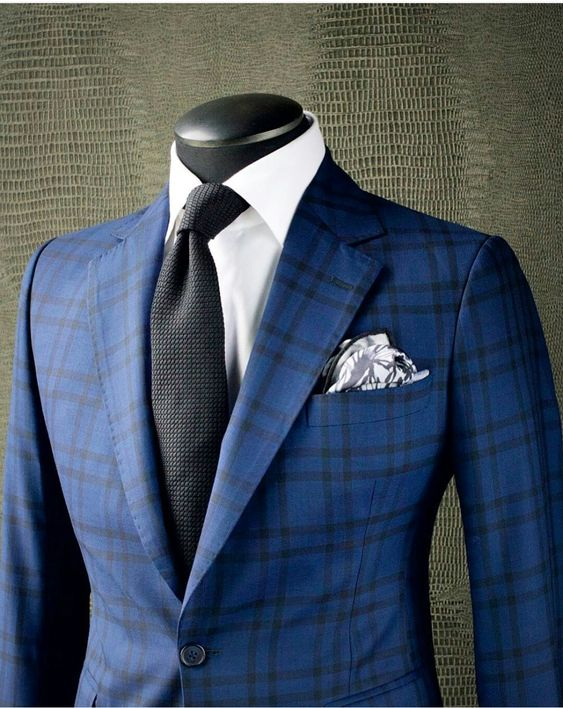 blue windowpane custom suit