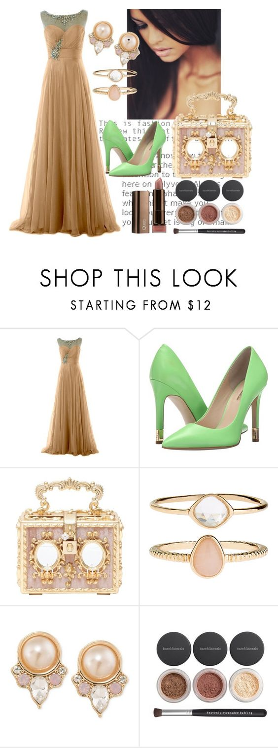 """""""Untitled #383"""" by domla ❤ liked on Polyvore featuring GUESS, Dolce&Gabbana, Accessorize, Carolee, Bare Escentuals and COVERGIRL"""