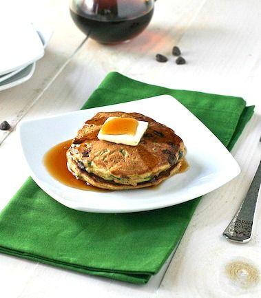 Zucchini Chocolate Chip Pancakes - FoodBabbles.com