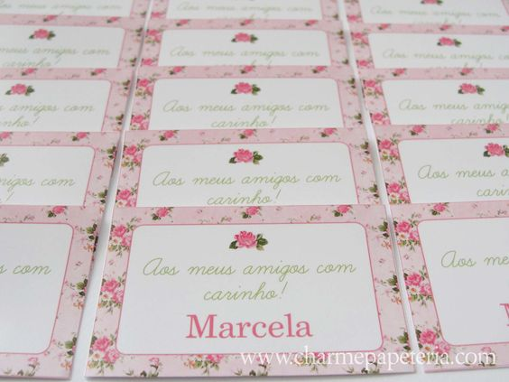 Produção para Marcela - Floral Shabby Chic