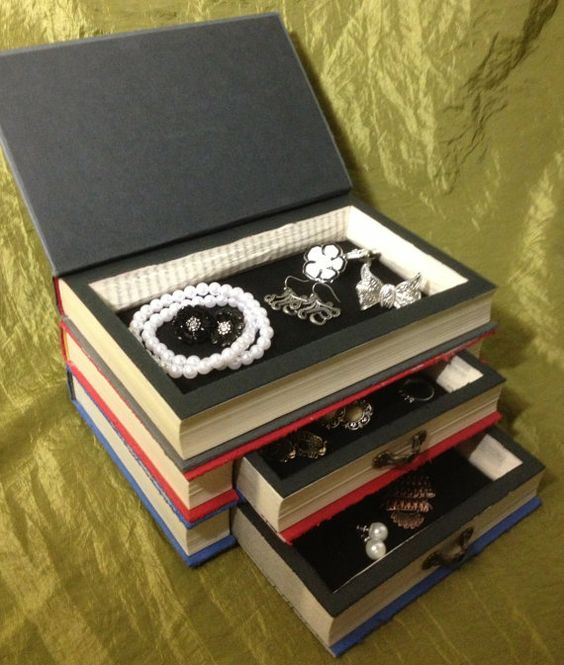 Hunger Games Book Jewelry Box Upcycled recycled by WreckedWritings: